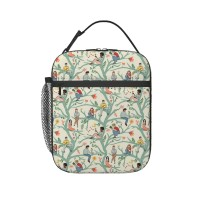 A Rest In Nature Lunch Bag for Women/Men/Adult,Very suitable for lunch to school Reusable Large Lunch Box,11x21x26cm,Polyester.