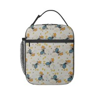 Animal Quackers-Bunny Hug-Maywood Studio Lunch Bag for Women/Men/Adult,Very suitable for work and on the go Reusable Large Lunch Box,11x21x26cm,Polyester.