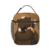 Bear Lunch Bag for Women/Men/Adult,Very suitable for office Reusable Large Lunch Box,11x21x26cm,Polyester.