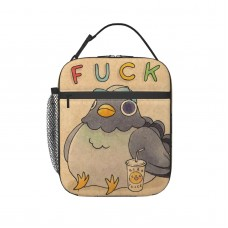 'Fuck' Pigeon 01 Lunch Bag for Women/Men/Adult,Very suitable for carry food Reusable Large Lunch Box,11x21x26cm,Polyester.