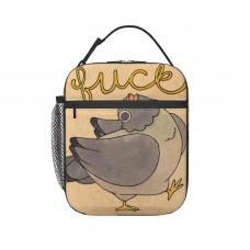 'Fuck' Pigeon 02 Lunch Bag for Women/Men/Adult,Very suitable for office Reusable Large Lunch Box,11x21x26cm,Polyester.