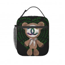 Bear Lunch Bag for Women/Men/Adult,Very suitable for work and on the go Reusable Large Lunch Box,11x21x26cm,Polyester.