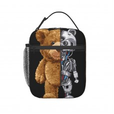 TDX2862 Lunch Bag for Women/Men/Adult,Very suitable for carry food Reusable Large Lunch Box,11x21x26cm,Polyester.