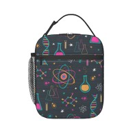 Midcentury Modern Science Lunch Bag for Women/Men/Adult,Very suitable for carry food Reusable Large Lunch Box,11x21x26cm,Polyester.