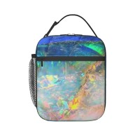 Ocean Opal Lunch Bag for Women/Men/Adult,Very suitable for work and on the go Reusable Large Lunch Box,11x21x26cm,Polyester.