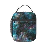 Outer Space, Solar System Lunch Bag for Women/Men/Adult,Very suitable for lunch to school Reusable Large Lunch Box,11x21x26cm,Polyester.