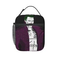Suicide Squad Joker Lunch Bag for Women/Men/Adult,Very suitable for lunch to school Reusable Large Lunch Box,11x21x26cm,Polyester.