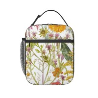 The Flowers In My Garden Large Lunch Bag for Women/Men/Adult,Very suitable for work and on the go Reusable Large Lunch Box,11x21x26cm,Polyester.